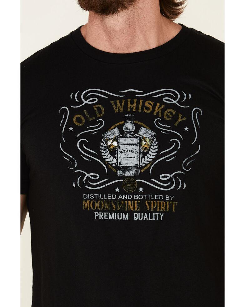 Moonshine Spirit Men's Black Old Whiskey Graphic T-Shirt , Black, hi-res