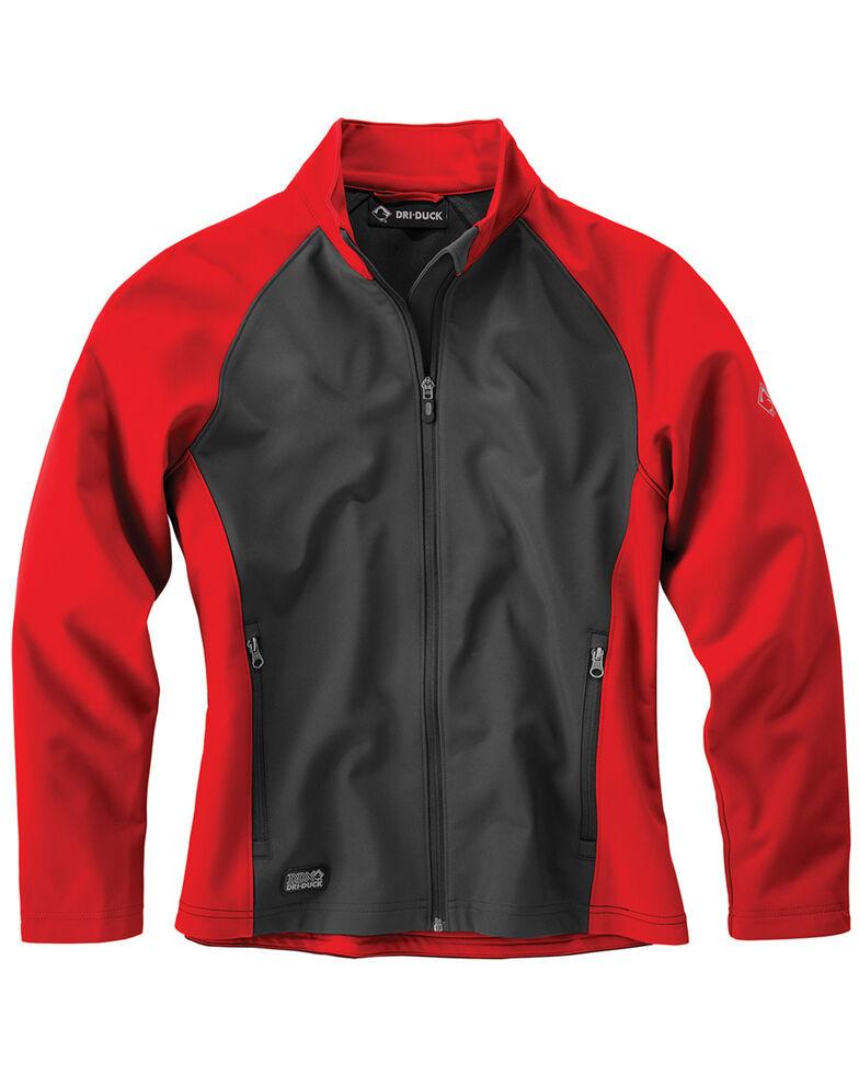 Dri Duck Women's Contour Softshell Work Jacket, Red, hi-res