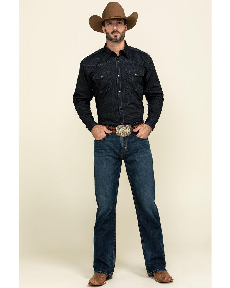 Cowboy Hardware Men's Honeycomb Geo Print Long Sleeve Western Shirt , , hi-res