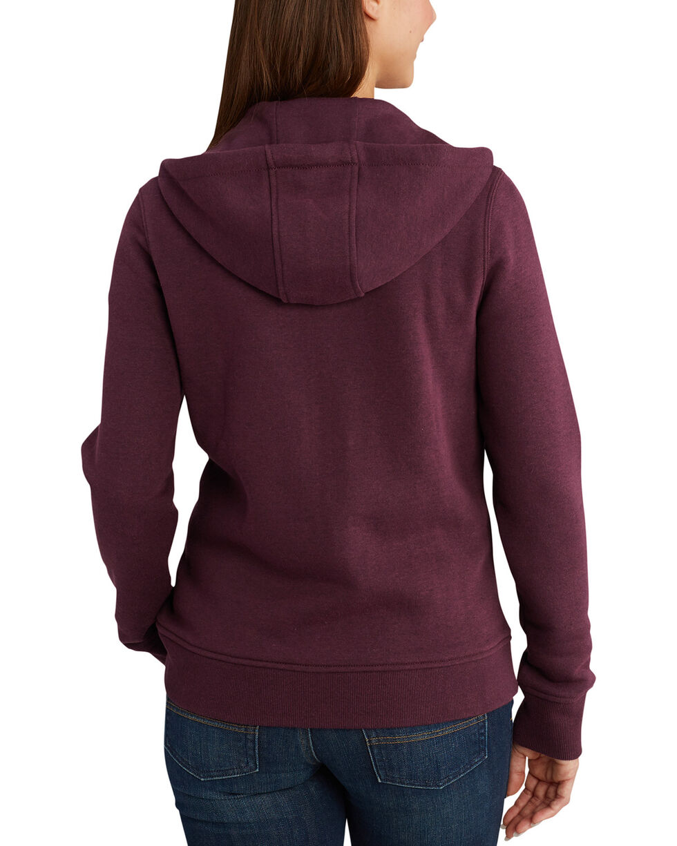 Carhartt Women's Clarksburg Full-Zip Hoodie , Medium Brown, hi-res