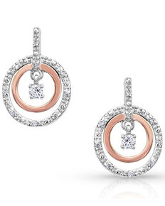 Montana Silversmiths Women's Haloed First Star Earrings, Rose, hi-res