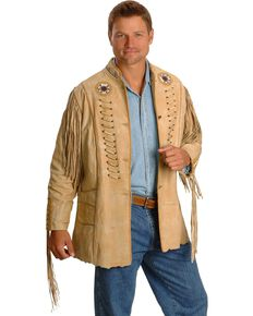 Kobler Zapata Fringed Leather Jacket, Cream, hi-res