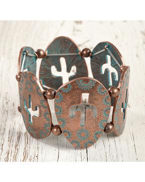 Shyanne Women's Cactus Cutout Bracelet, Turquoise, hi-res