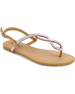 Shyanne® Women's Bling Loop Sandals, Natural, hi-res
