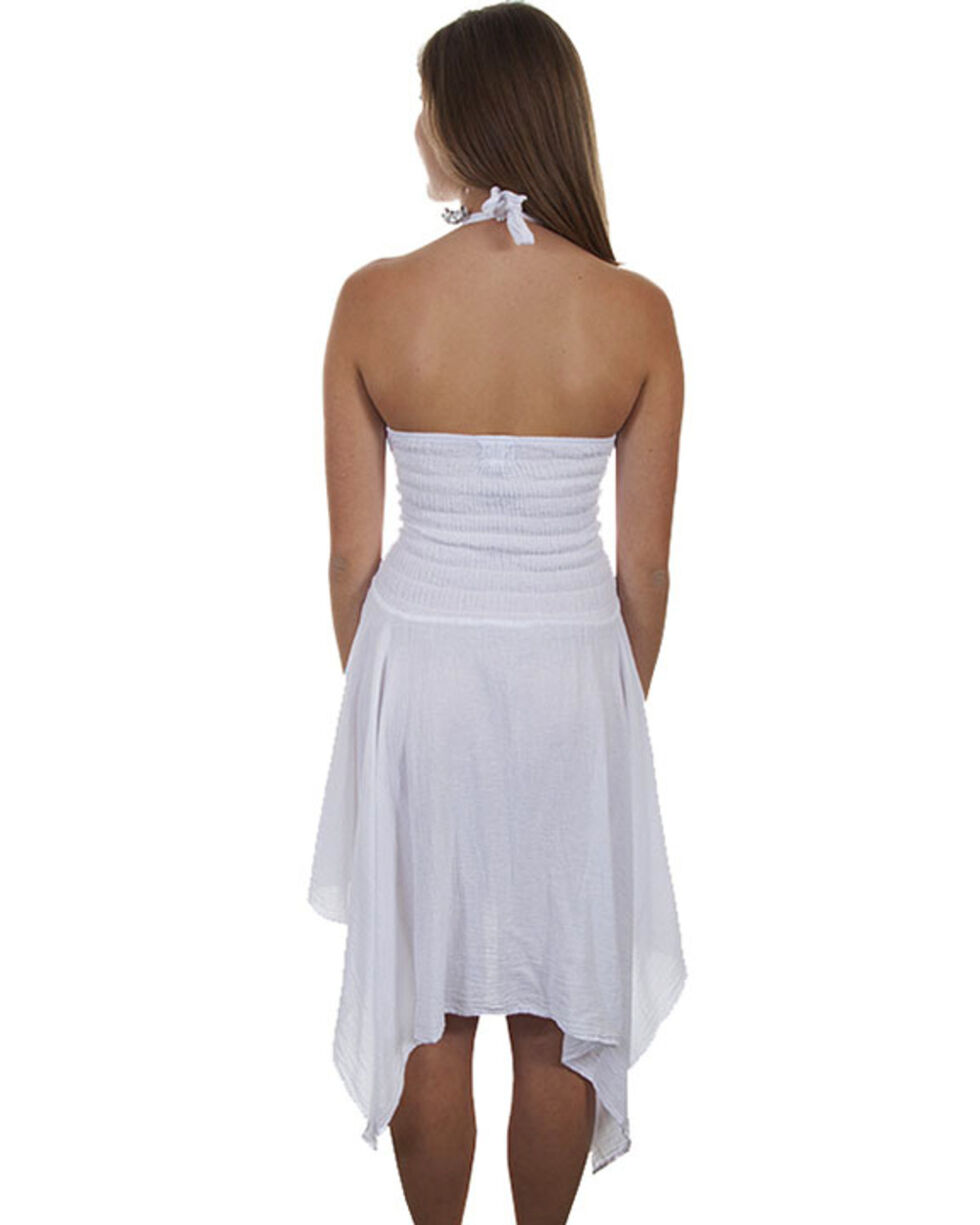 Cantina by Scully Women's White Halter Strap Dress, , hi-res