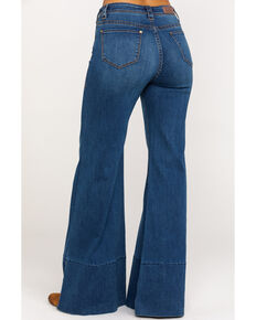 Rock & Roll Cowgirl Women's High Rise Medium Wash Flare Jeans, Blue, hi-res
