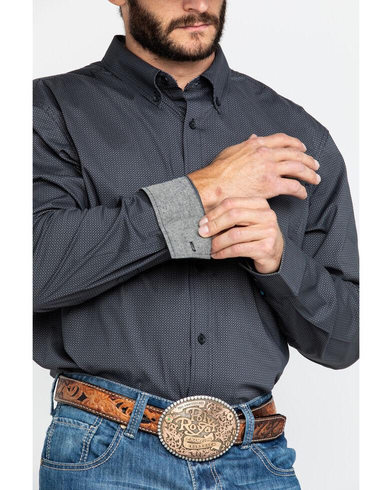 Cody James Core Men's Burton Geo Print Long Sleeve Western Shirt , Grey, hi-res