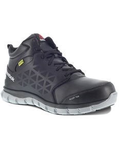 Reebok Men's Sublite Met Guard Work Boots - Alloy Toe, Black, hi-res