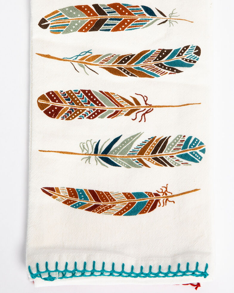 BB Ranch Southwest Boot & Feather Flour Sack Towels, Multi, hi-res