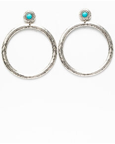Idyllwind Women's No Ordinary Hoop Earrings, Silver, hi-res