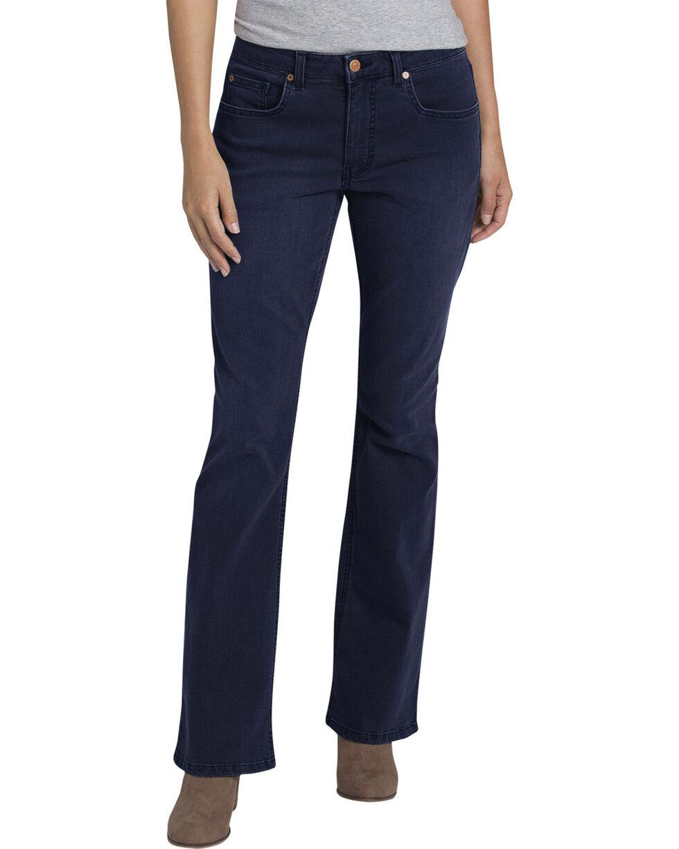 Women's Dickies Perfect Shape Stretch Denim Jeans - Boot Cut, Indigo, hi-res