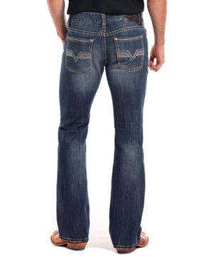 Rock & Roll Cowboy Men's Reflex Pistol Flying V Boot Cut Jeans, Blue, hi-res