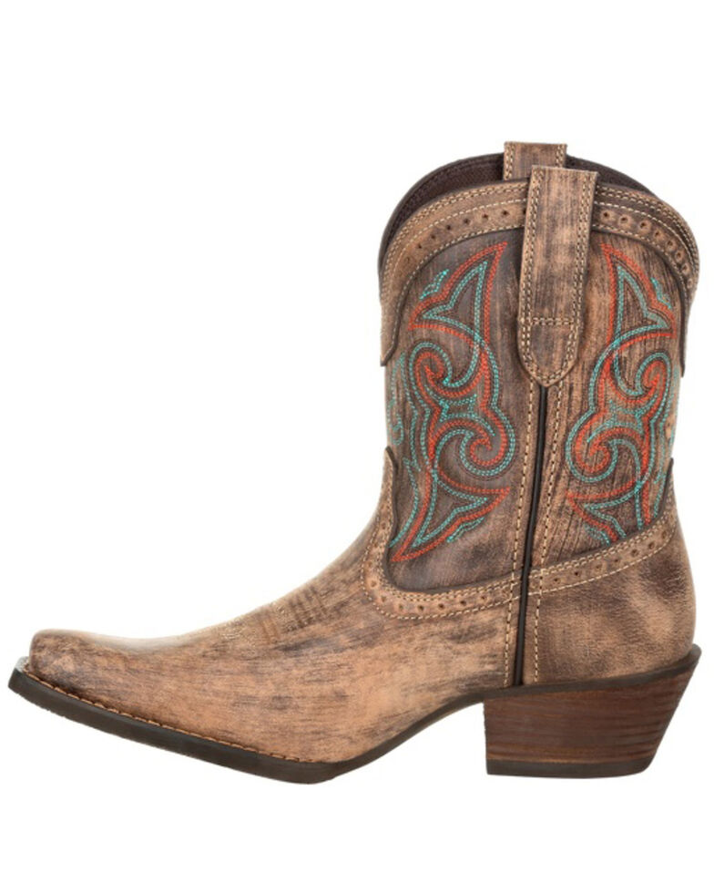 Durango Women's Driftwood Western Booties - Snip Toe, Brown, hi-res