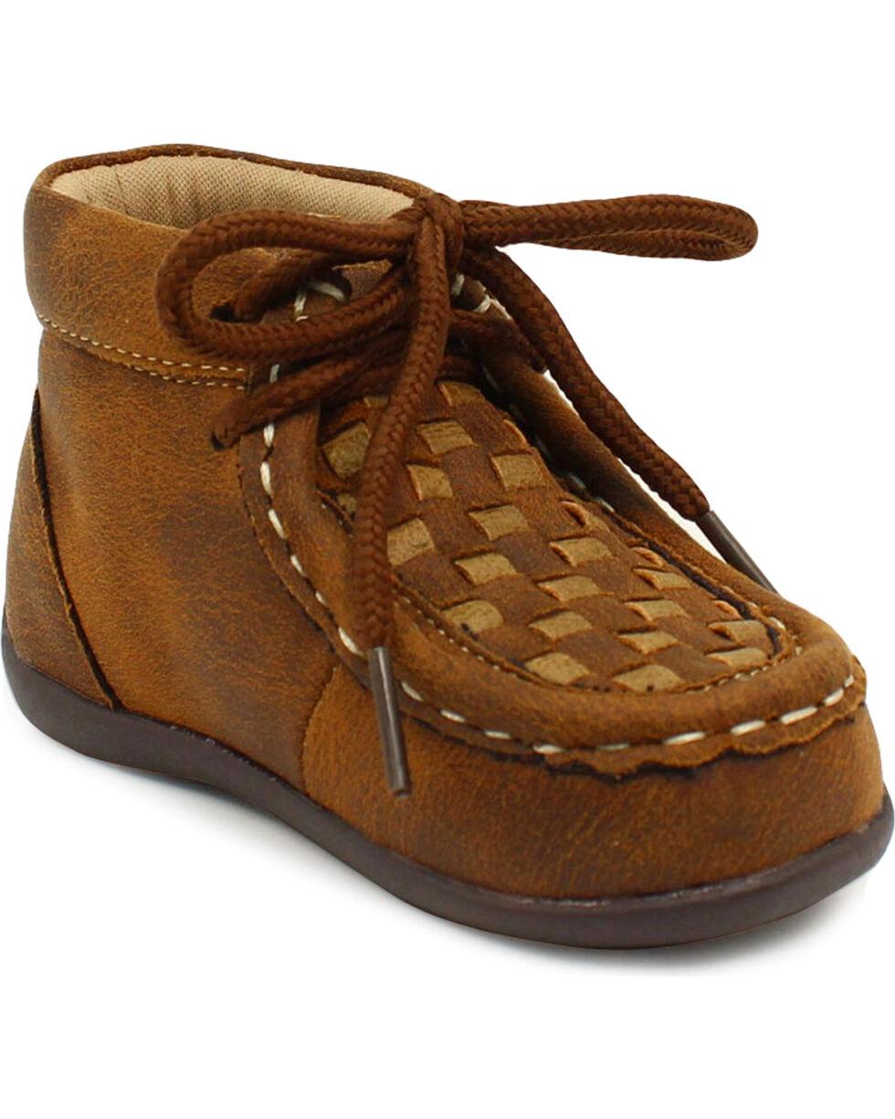 Double Barrel Boys' Brown Carson Chukka Shoes, Brown, hi-res