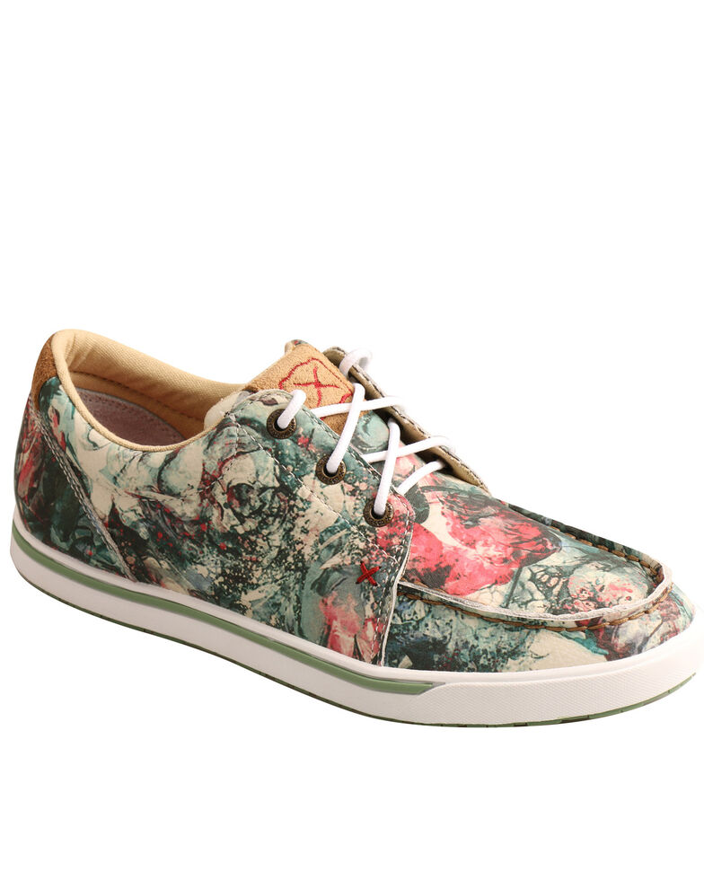Twisted X Women's Floral Tooled Casual Shoes - Moc Toe, Multi, hi-res
