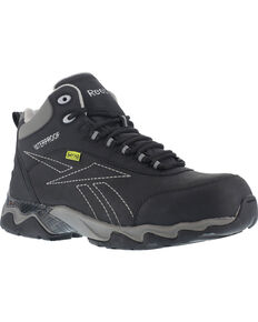 Reebok Men's Met Guard Waterproof Athletic Hiker Boots - Composite Toe, Black, hi-res