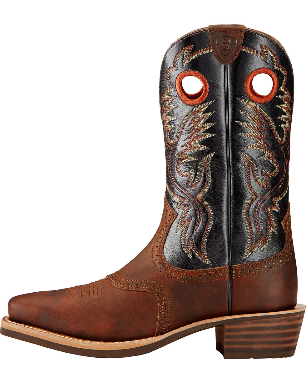 Ariat Men's Heritage Rough Stock Western Boots, Mahogany, hi-res