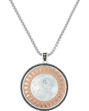 Montana Silversmiths Women's Wide Open Prairie Concho Necklace , Silver, hi-res