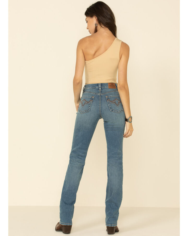 Shyanne Women's Straight Leg Riding Jeans, Light Blue, hi-res