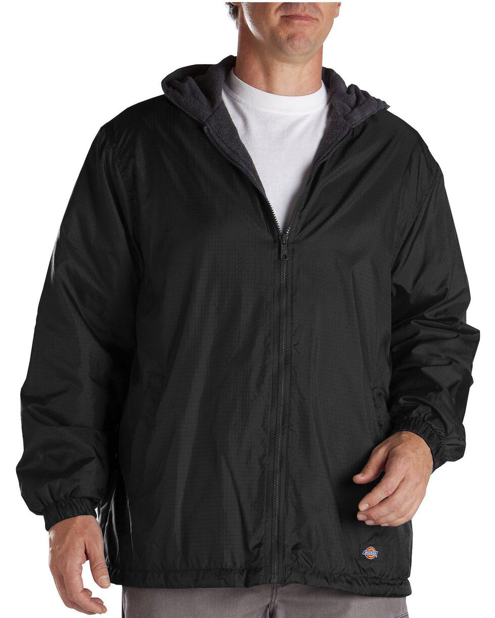 Dickies Fleece Lined Hooded Jacket, Black, hi-res
