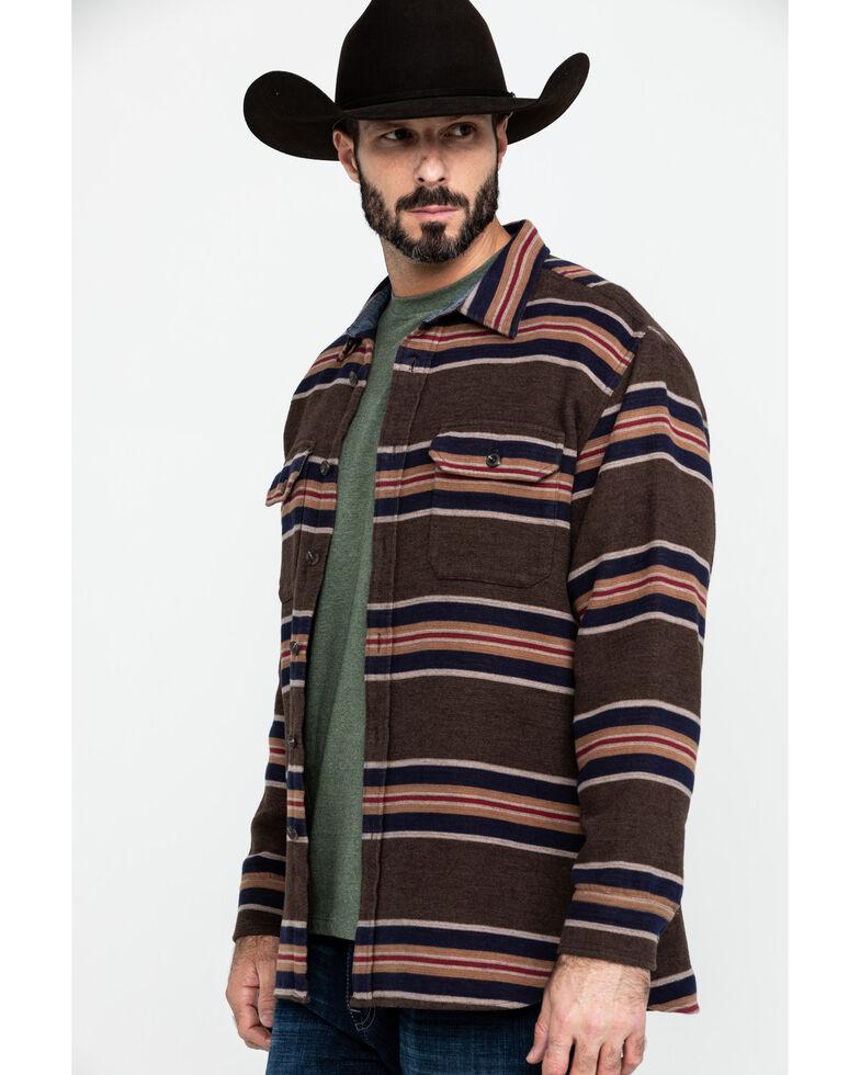 Pendleton Men's San Miguel Blanket Stripe Long Sleeve Flannel Shirt , Brown, hi-res