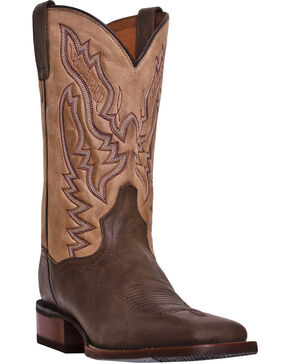 Dan Post Men's Cowboy Certified Matheson Boots, Chocolate, hi-res