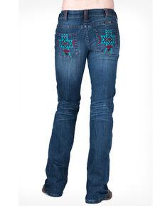 Cowgirl Tuff Women's Aztec Spirit Jeans, Blue, hi-res