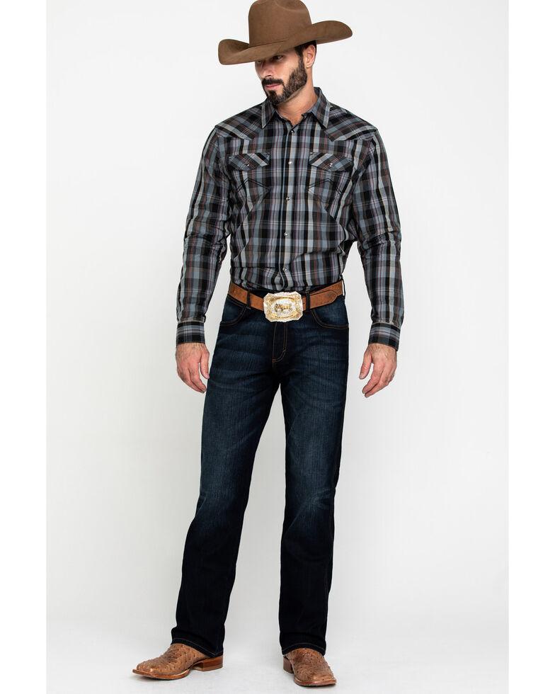 Cody James Men's Chapman Small Plaid Long Sleeve Western Shirt - Tall , Black, hi-res