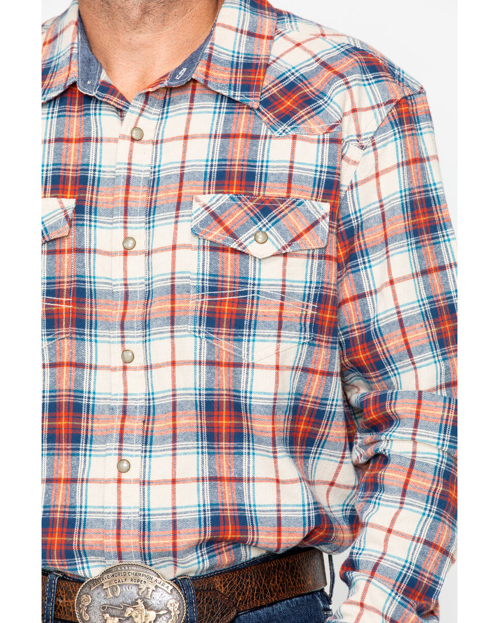 Cody James Men's Nome Flannel Long Sleeve Shirt , Blue, hi-res