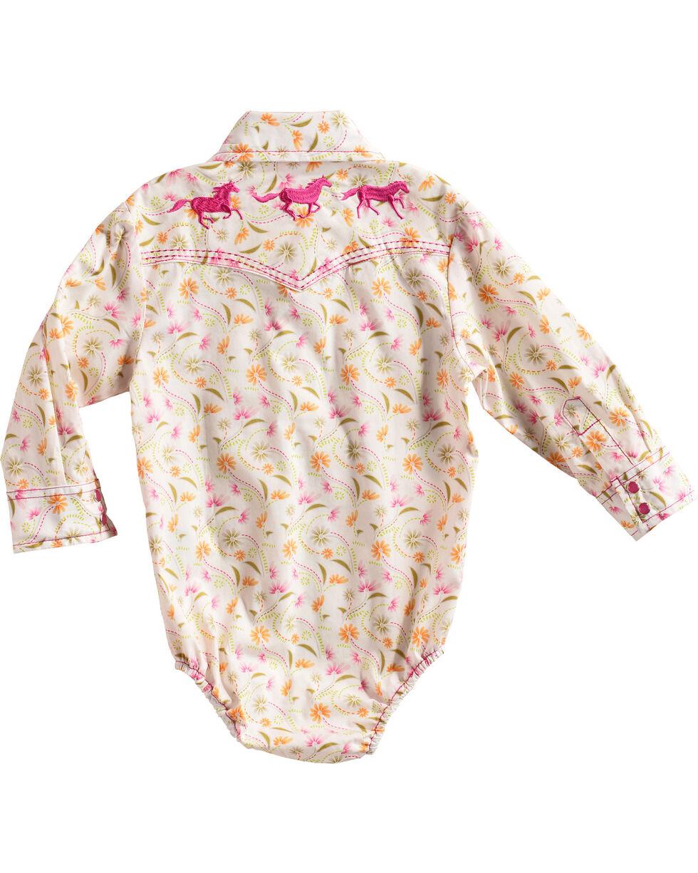 Cowboy Hardware Infant Girls' White Wild Flower Onesie , White, hi-res