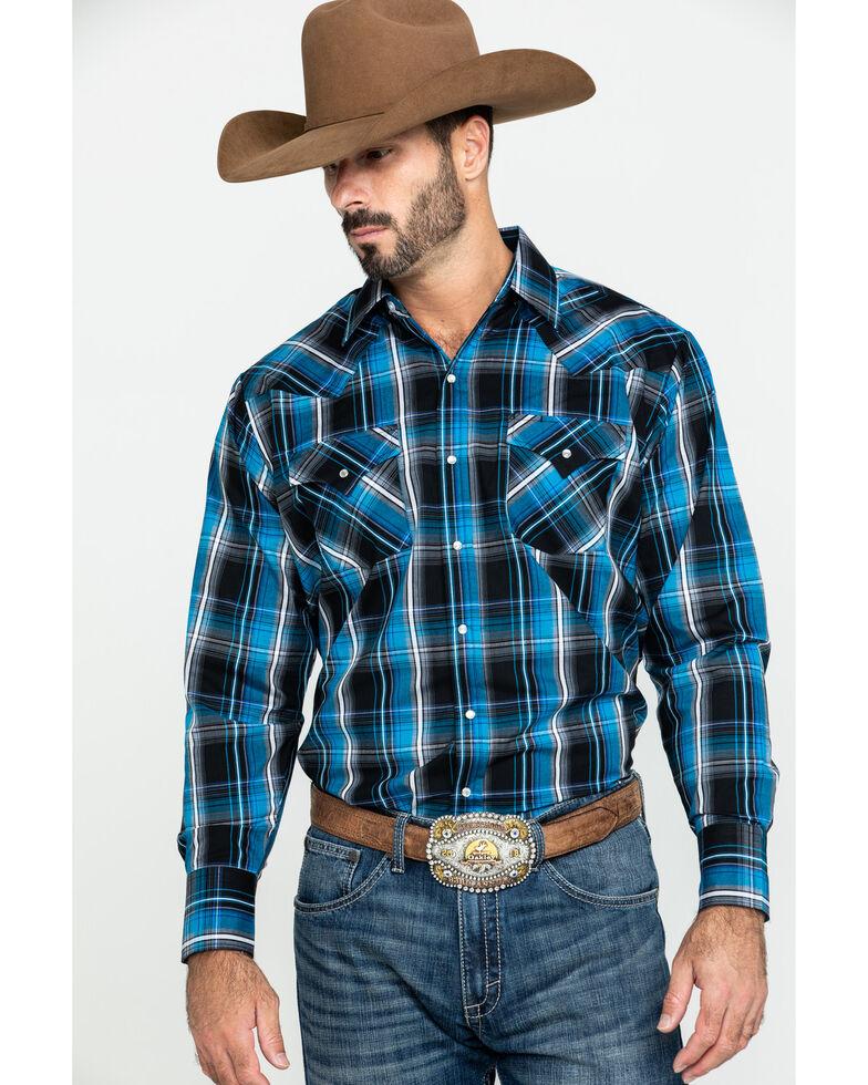 Ely Cattleman Men's Assorted Textured Multi Plaid Long Sleeve Western Shirt , Multi, hi-res