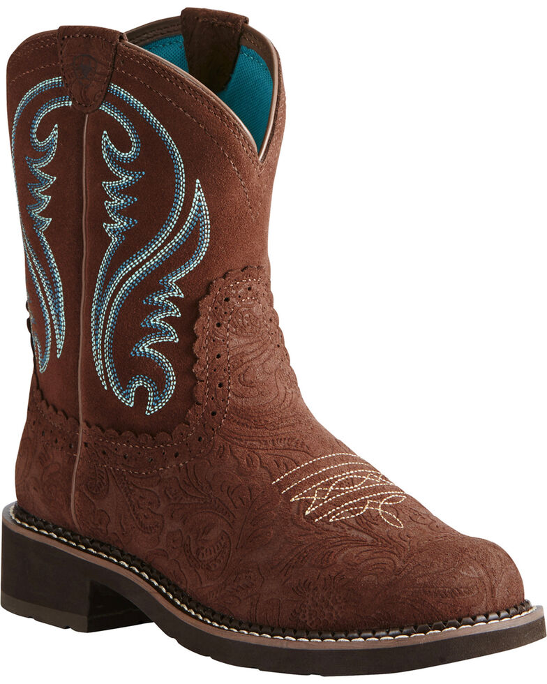 Ariat Women's Fatbaby Heritage Western Boots, Brown, hi-res