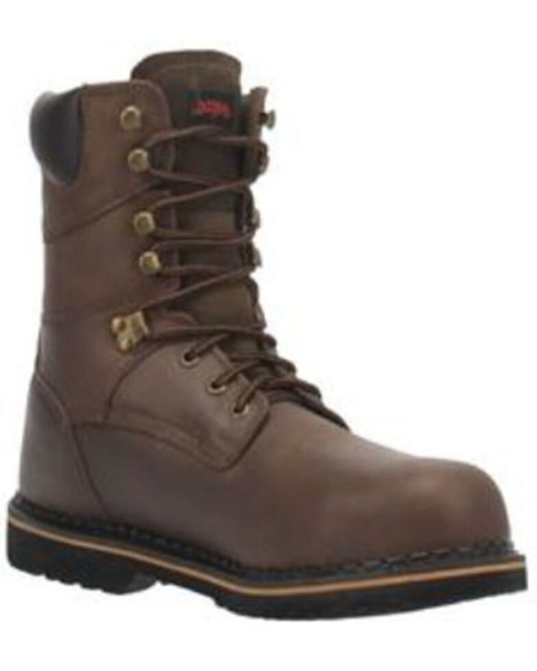Laredo Men's Chain Work Boots - Soft Toe, Brown, hi-res