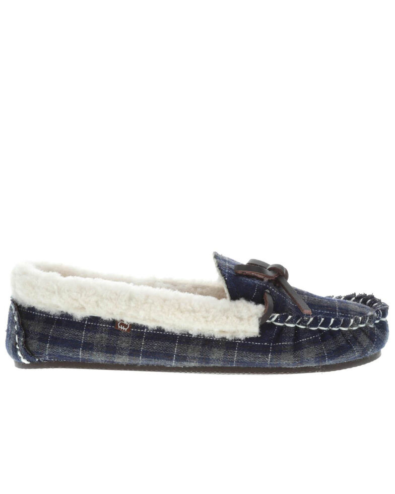 Lamo Footwear Women's Jingle Navy Slippers - Moc Toe, Navy, hi-res