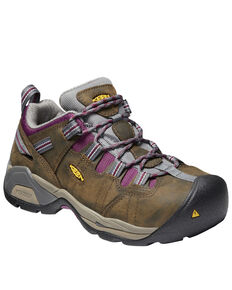 Keen Women's Brown Detroit XT Waterproof Work Boots - Steel Toe, Brown, hi-res