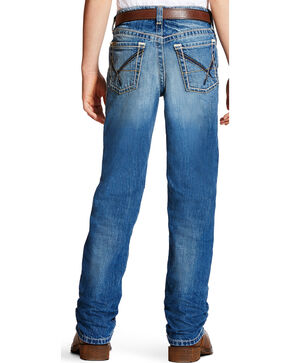Ariat Boys' Blue B5 Powell Cyclone Jeans - Straight Leg , Blue, hi-res