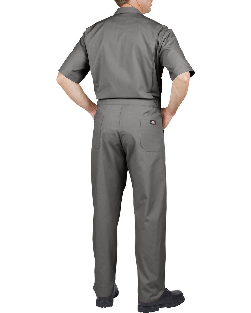 Dickies Short Sleeve Work Coveralls - Big & Tall, Grey, hi-res