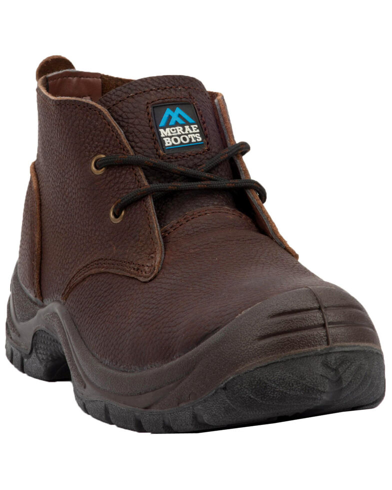 McRae Men's Safety Work Shoes - Steel Toe, Brown, hi-res