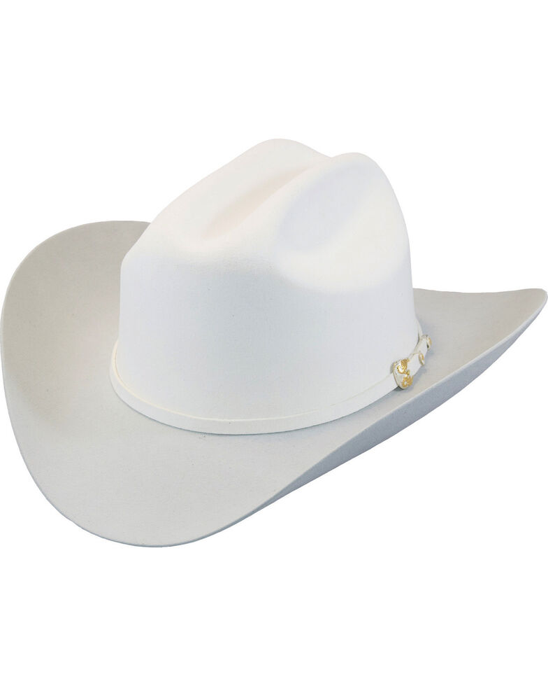 Larry Mahan Men's White The Dos Banderas 6X Cowboy Hat , White, hi-res