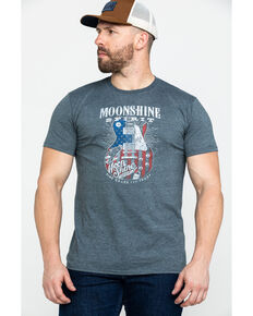 Moonshine Spirit Men's Big Guitar Graphic T-Shirt , Grey, hi-res