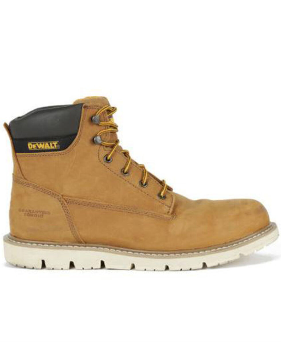 DeWalt Men's Flex Lace-Up Work Boots - Soft Toe, Wheat, hi-res