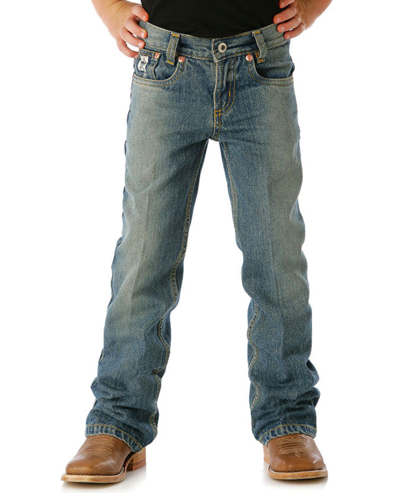Cinch Boys' Low Rise Slim Bootcut Jeans, Indigo, hi-res