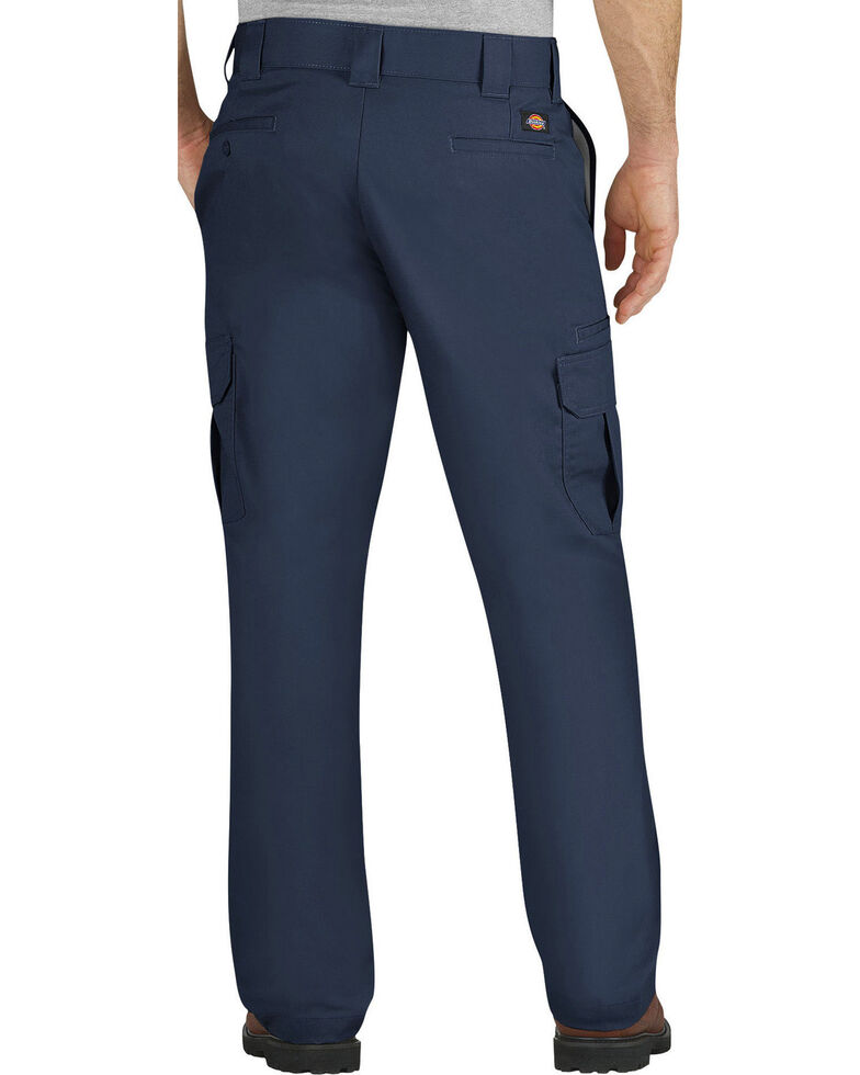 Dickies Men's FLEX Regular Fit Straight Leg Cargo Pants - Big & Tall, Navy, hi-res