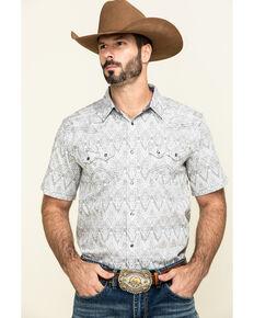 Cody James Men's Los Ranchos Aztec Print Short Sleeve Western Shirt , White, hi-res