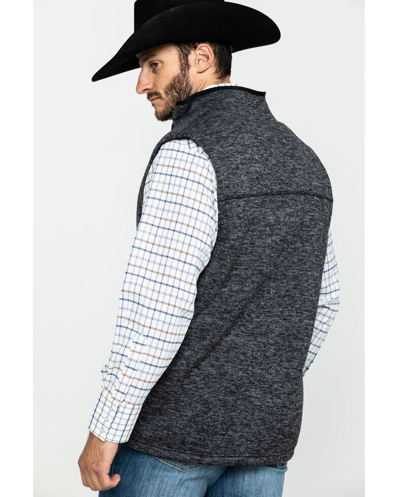 Cody James Men's Wolfwood Bonded Fleece Sherpa Sweater Vest , Grey, hi-res