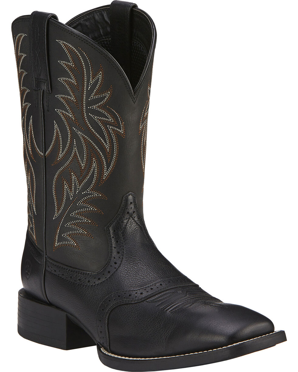 Ariat Men's Sport Western Boots, Black, hi-res