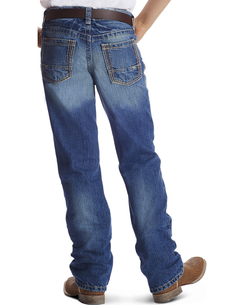 Ariat Boys' Blue B4 Relaxed Fit Boundary Dakota Bootcut Jeans, Blue, hi-res