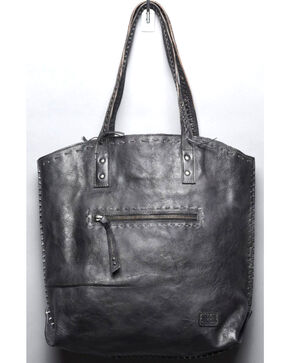 Bed Stu Women's Barra Black Rustic Tote, Black, hi-res