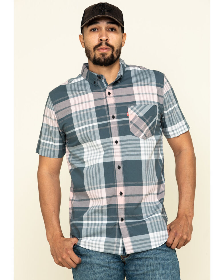 Levi's Men's Multi Belek Plaid Short Sleeve Western Shirt , Multi, hi-res