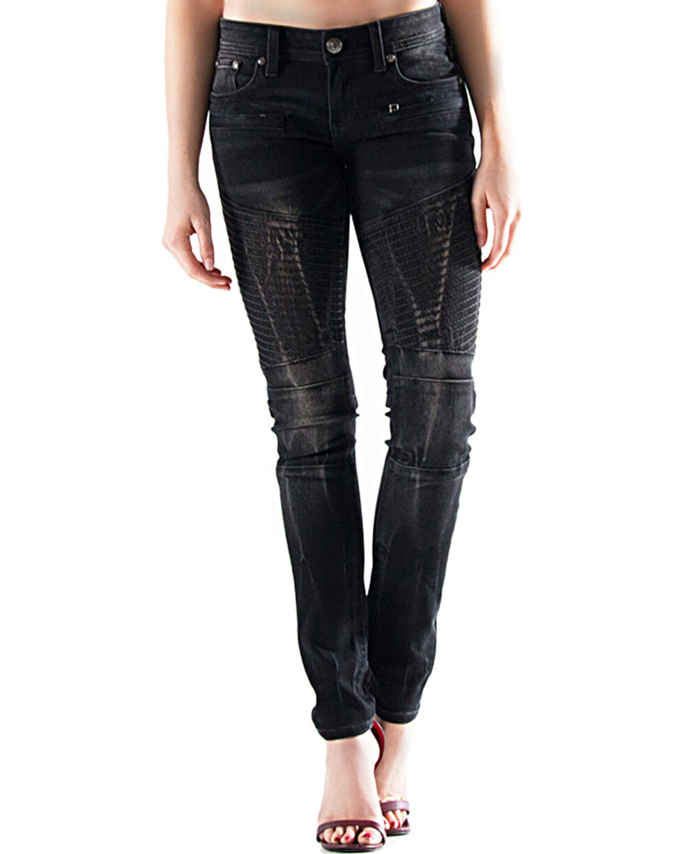 Grace in LA Women's Dark Wash Skinny Jeans , Indigo, hi-res